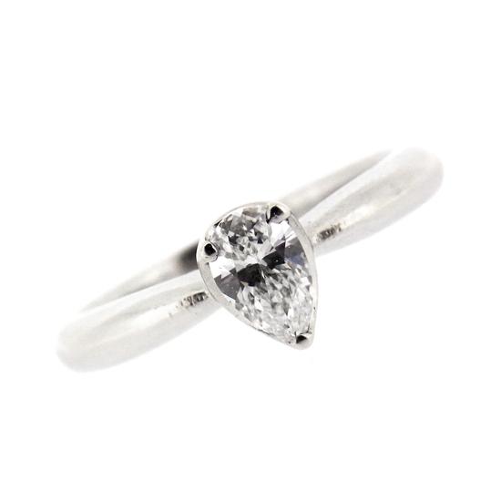 【中古】ダイヤモンド リング ペアシェイプカット ダイヤ0.34ct プラチナ