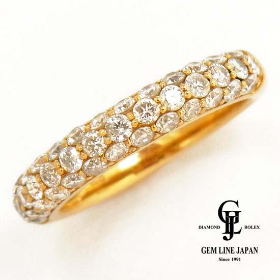 【中古】K18 ダイヤモンド 1.00ct パヴェリング