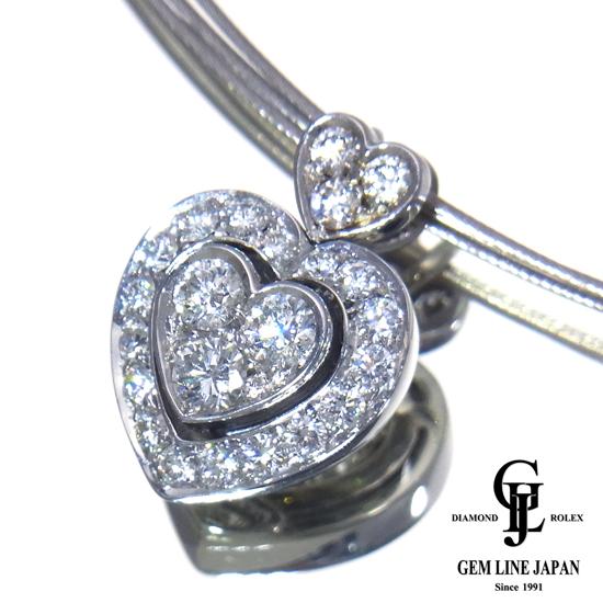 【中古】ピキョッティ ダイヤモンド 0.74ct K18WG ネックレス