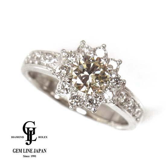 【中古】K-VS2-G ダイヤモンド0.653ct 他0.517ct Pt900リング