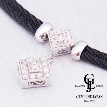 未使用CHARRIOL シャリオール レディース ジュエリー ダイヤモンド ネックレス ホワイトゴールド・ステンレス製