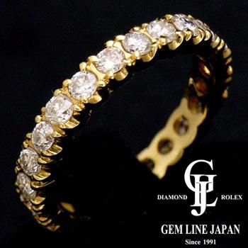 【新品】エタニティ リング 1.00ct ダイヤモンド K18YG 9号