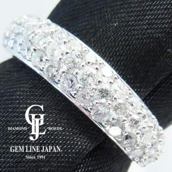 キラキラ パヴェダイヤモンド1.00ct プラチナリング【新品】