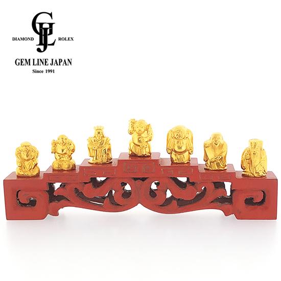 【中古】招福 純金製 七福神 置物 66.31g 徳力刻印
