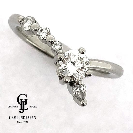 Gカラー VVS2クラス グッドカット ダイヤモンド0.297ct Pt900リング【新品】