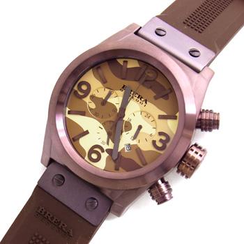 【未使用品】【BRERA OROLOGI】ブレラ オロロジ 日本限定モデル エテルノ クロノ カモフラージュ ブラウン BRETC4522CM カレンダー イオンプレート加工ステンレススチール製×ラバー クロノグラフ クォーツ式メンズ腕時計