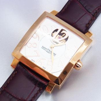 【サントノーレ】オルセーカレミディアム 8810178YBBR 茶 自動巻き男女兼用腕時計【展示未使用品】