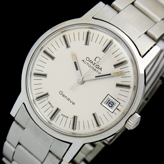 オメガ ジュネーブ ST166.070 オートマチック ステンレススチール製 メンズ腕時計【中古】