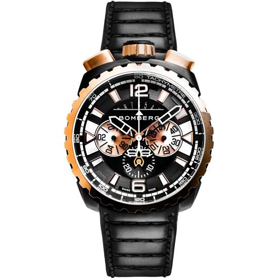 【新品】【BOMBERG】ボンバーグBOLT-68ゴールド/ブラックBS45CHPPKBA.050-1.3クォーツ クロノグラフ メンズ 腕時計