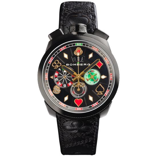 【新品】【BOMBERG】ボンバーグBOLT-68ギャンブラー マカオBS45CHPBA.033.3限定888本 クォーツ クロノグラフ メンズ 腕時計
