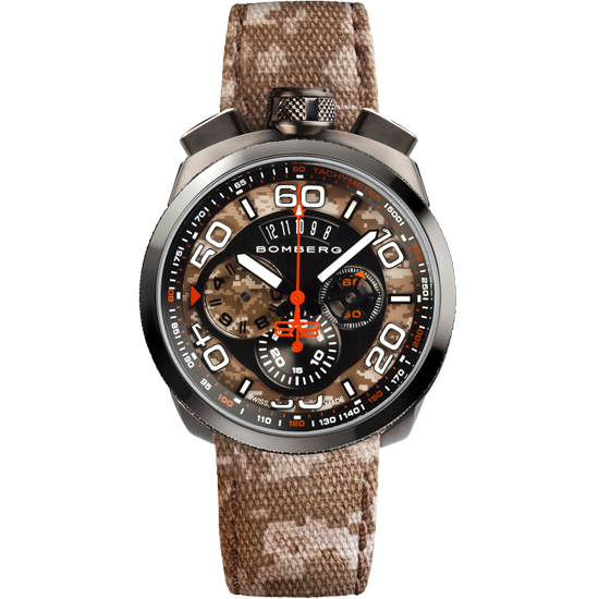 【新品】【BOMBERG】ボンバーグBOLT-68カモフラージュBS45CHPGM.018.3限定500本 クォーツ クロノグラフ メンズ 腕時計