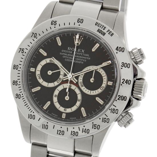 【中古】ロレックス コスモグラフ デイトナ SS ブラック 16520 A番 100m防水 自動巻き クロノグラフ メンズ 腕時計