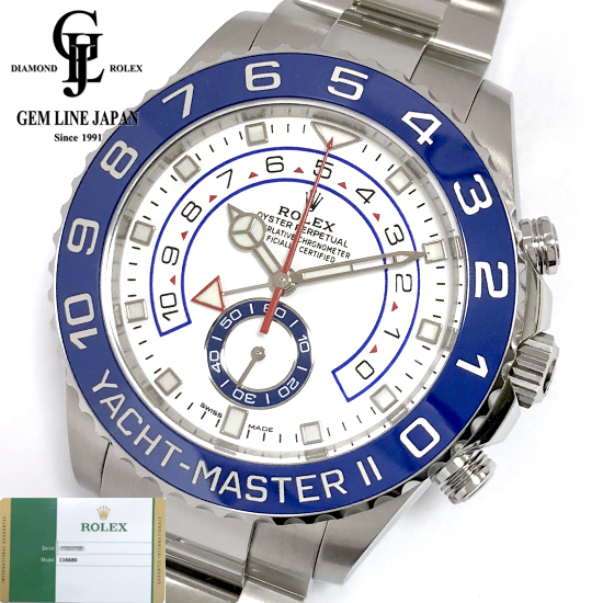 ー品販売  【新品】2019年7月ギャラ付 ロレックス ヨットマスターII 116680 ランダム SS ブルー メンズ 自動巻き 腕時計, ジュエル アイマス 5fcb71f7