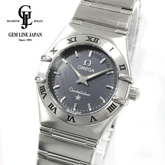 【中古】オメガ コンステレーション 1572.40.00 グレー文字盤 レディース クォーツ 腕時計