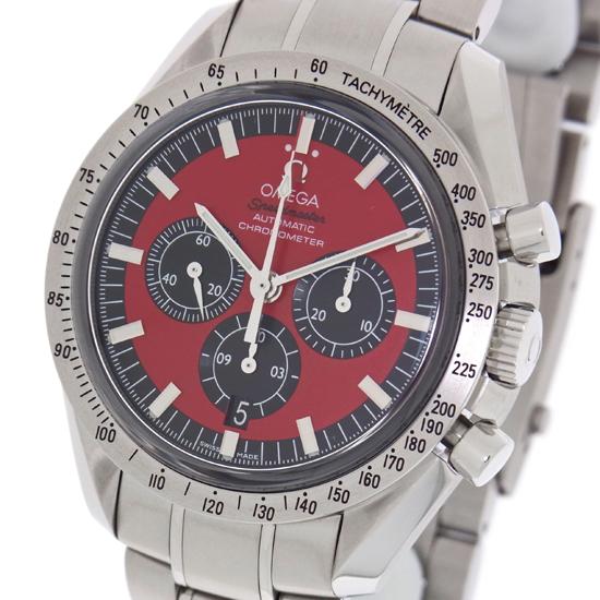 【OMEGA】オメガ スピードマスター シューマッハモデル ザ・レジェンド 3506.61 レッド SS 自動巻き メンズ 腕時計【中古】