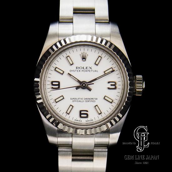 【Aランク】ロレックス レディース オイスター パーペチュアル 白文字盤 176234 ランダム SW 自動巻き 女性用腕時計【中古】