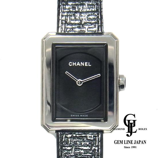 【中古】Sランク シャネル H5317 ボーイフレンド ツィード スモールモデル レディース 腕時計