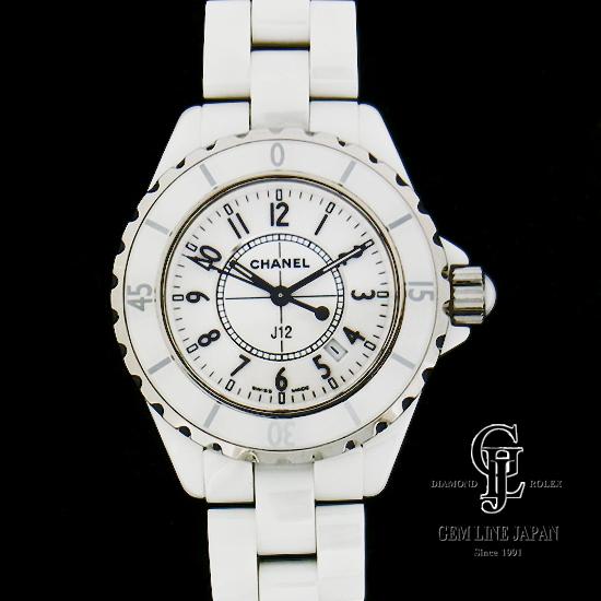 【中古】シャネル J12 H0968 白セラミック レディース 腕時計