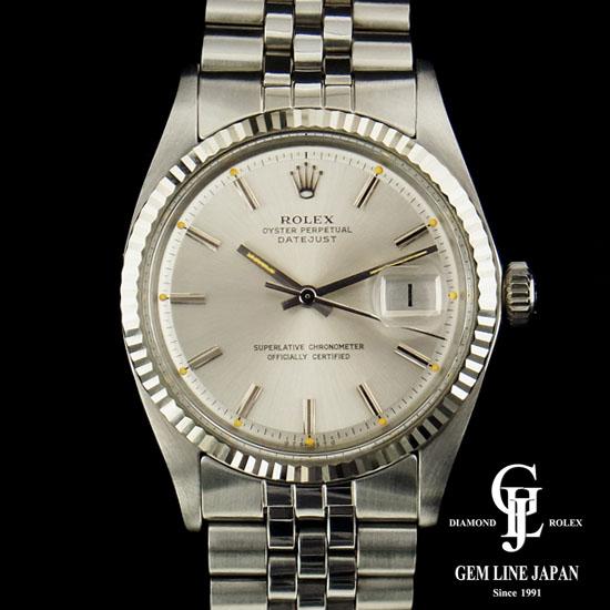 【中古】美品 ギャラBOX付完品 ロレックス 1601 デイトジャスト SS/WG アンティーク メンズ 腕時計