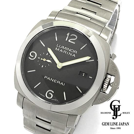 【中古】美品 ギャラ付 チタン オフィチーネ パネライ ルミノール マリーナ 1950 3DAYS PAM00352 メンズ 自動巻き 腕時計