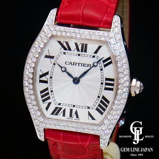 【中古】カルティエ トーチュLM 純正ダイヤベゼル WG ユニセックス 腕時計