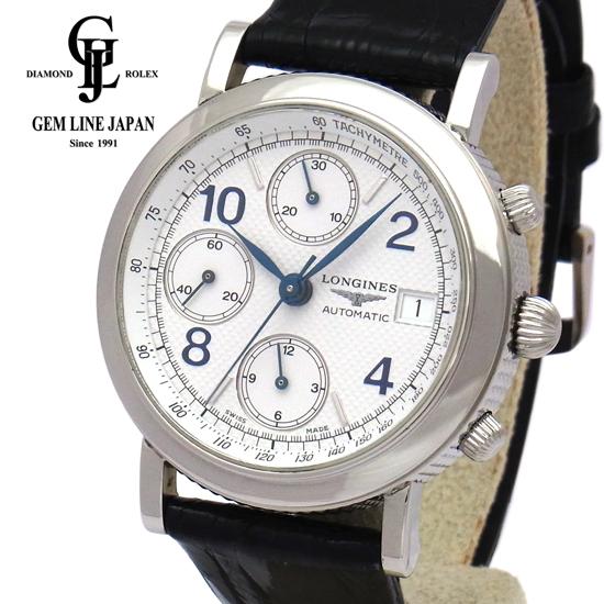 【中古】ギャラ付き ロンジン グランドクラシッククロノ L4.652.4 SS 自動巻き メンズ 腕時計