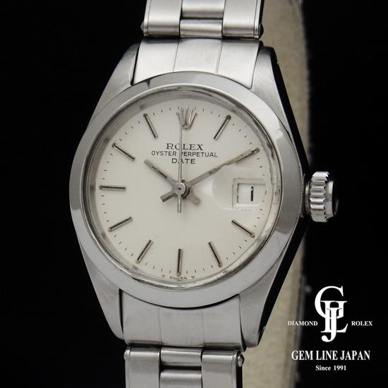 【中古】アンティーク ロレックス オイスターデイト 6916 SS レディース 腕時計