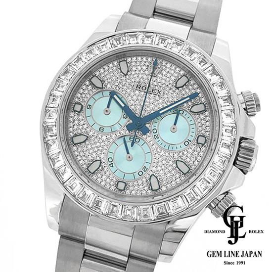 【中古】美品 ギャラ付 ルーレット刻印 ロレックス デイトナ 116576TBR Pt無垢 ダイヤモンド メンズ 腕時計