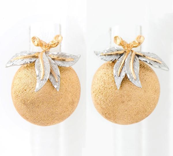 Gianmaria buceratti 瓦科水果图案耳环 18k 黄金