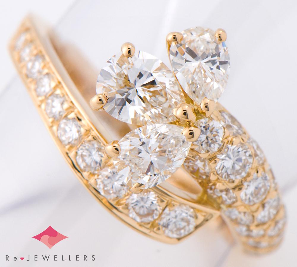 カルティエ ダイヤモンド ダイヤモンド 18金イエローゴールド 11号 リング・指輪【中古】(2200000239648)