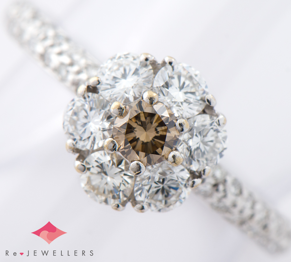 ダイヤモンド計1.13ct 18金ホワイトゴールド 12号 リング・指輪【中古】(2200000256690)