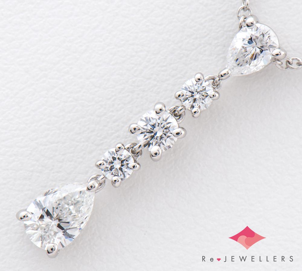 ティファニー ドロップ ダイヤモンド プラチナ950 ペンダント・ネックレス(2200000257475)