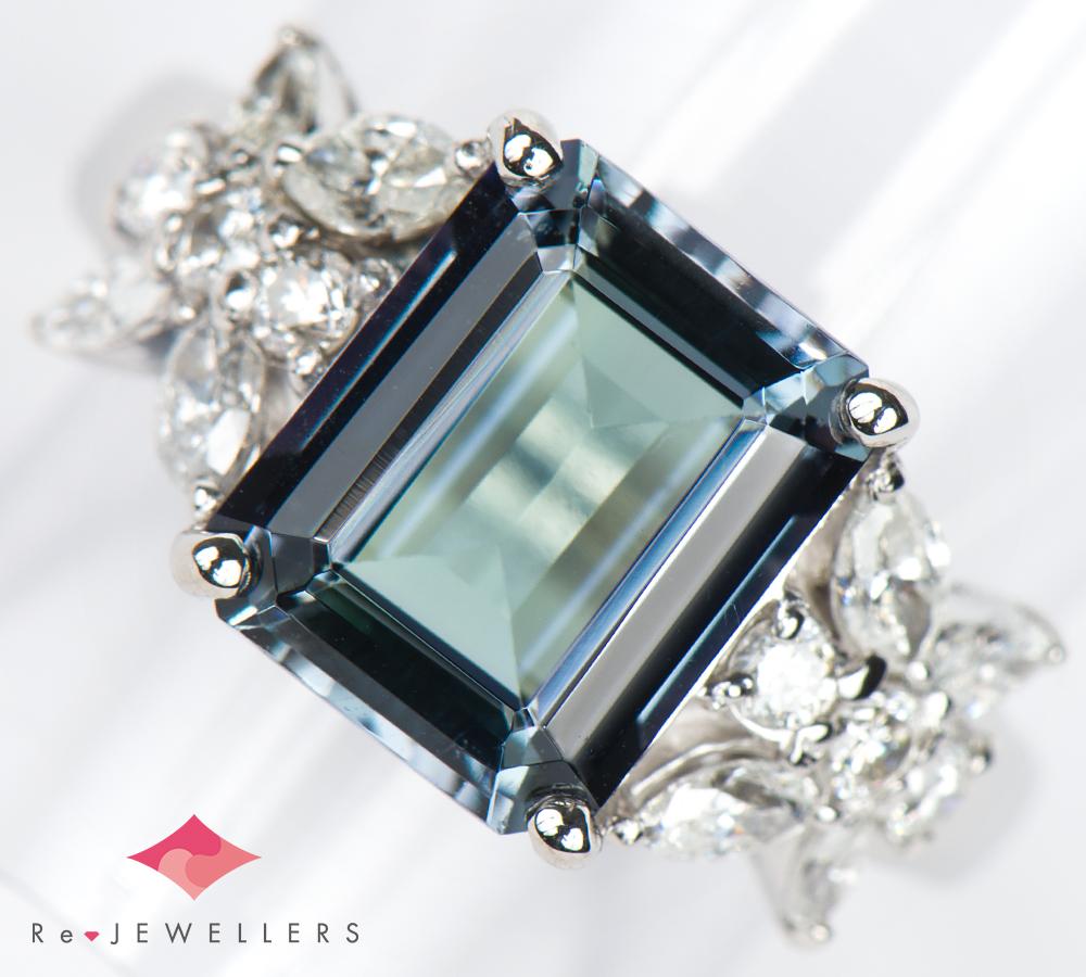 無処理 ゾイサイト3.12ct ダイヤモンド 計0.60ct プラチナ900 11.5号 リング・指輪【中古】(2200000262844)