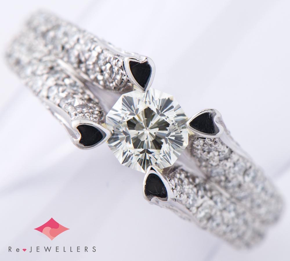 さくら ダイヤモンド0.528ct ダイヤモンド 計0.57ct プラチナ900 12号 リング・指輪【中古】(2200000263711)