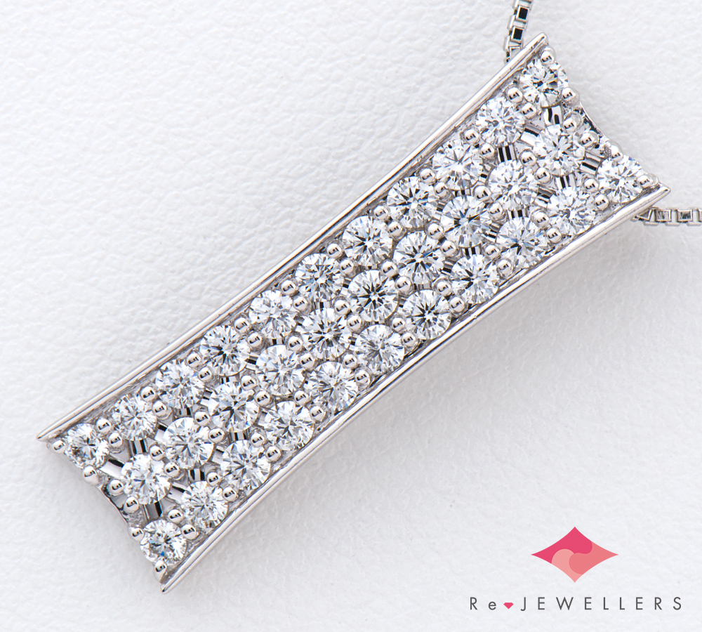 パヴェ ダイヤモンド計1.043ct プラチナ900/850 ペンダント・ネックレス【中古】(2200000263957)