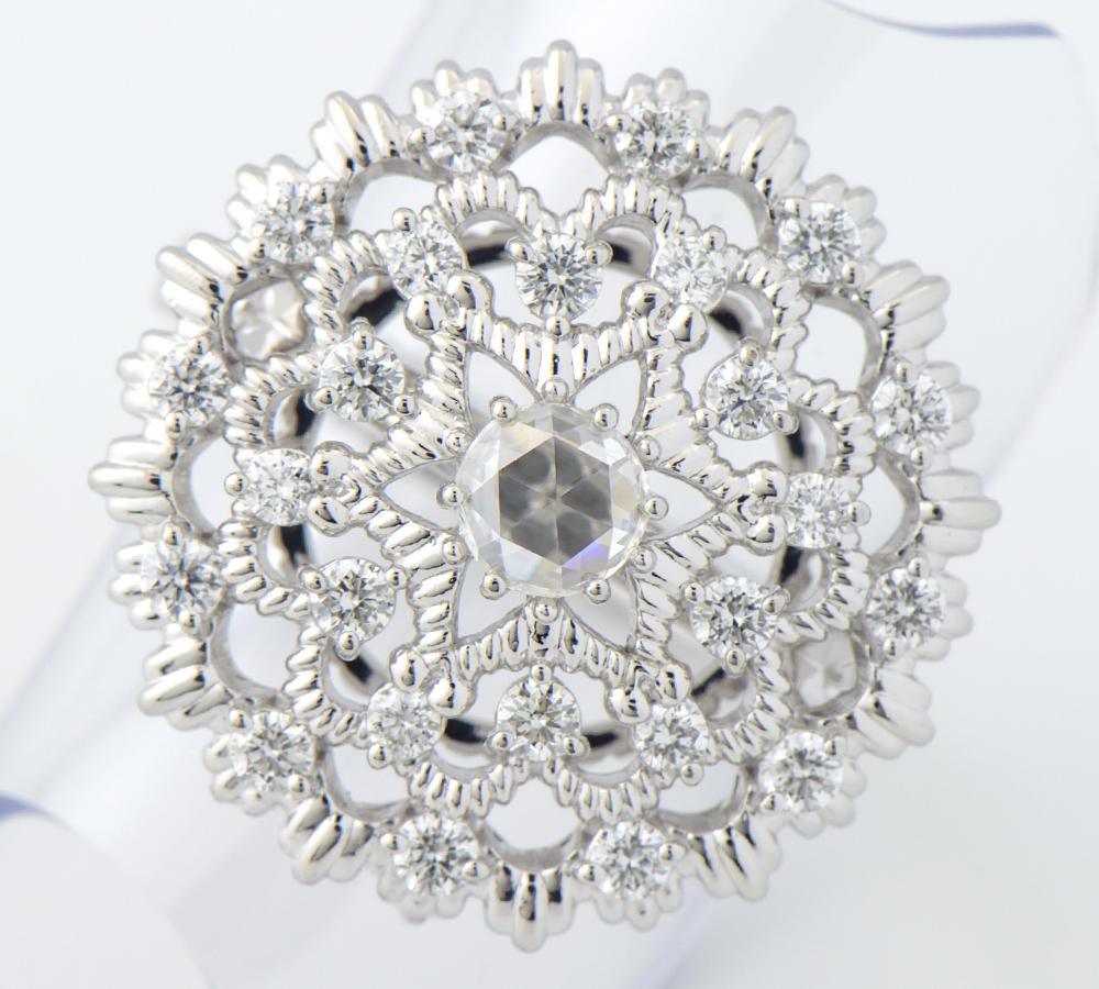 ダイヤモンド0.30ct ダイヤモンド 計0.60ct プラチナ900 12号 リング・指輪【中古】(2200000268549)