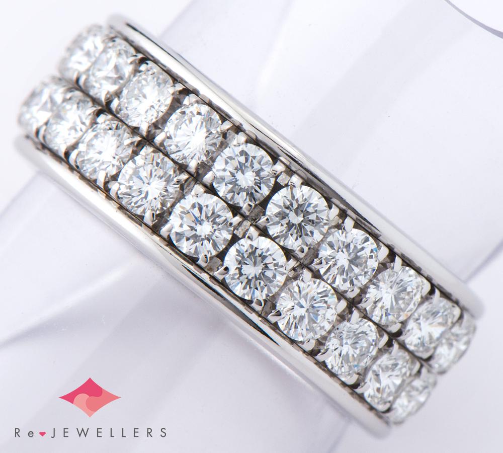 カルデローニ ハーフ ダイヤモンド 18金ホワイトゴールド 11号 リング・指輪【中古】(2200000267245)