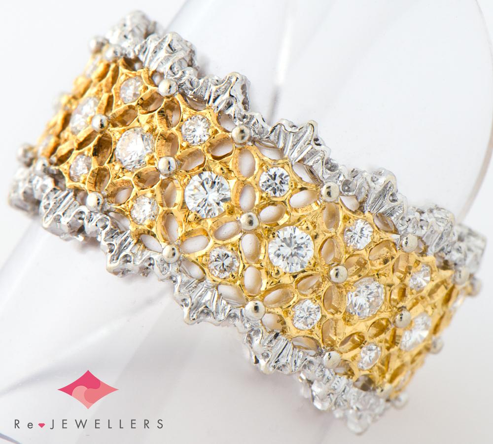 ブチェラッティ ダイヤモンド 18金イエローゴールド/18金ホワイトゴールド 11号 リング・指輪【中古】(2200000270634)