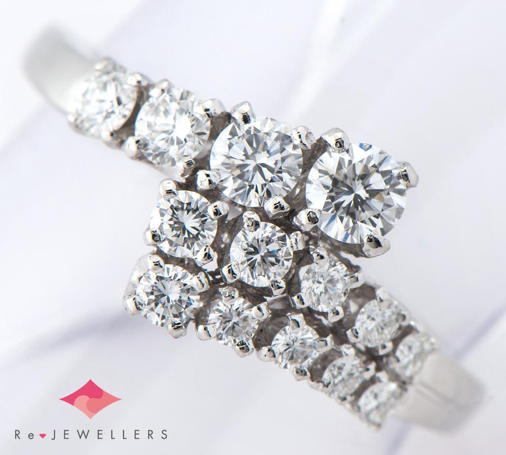 ミキモト ダイヤモンド計0.55ct プラチナ950 10号 リング・指輪【中古】(2200000271501)