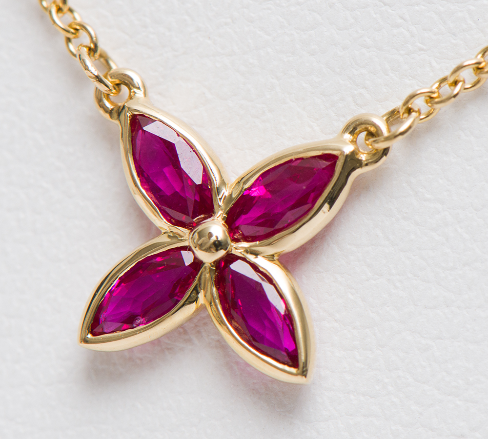 e73d3596b ... Tiffany Victoria ruby 18-karat gold yellow gold pendant necklace  (2200000275530) ...