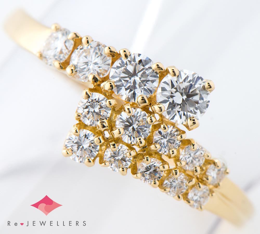 ミキモト ダイヤモンド計0.55ct 18金イエローゴールド 12号 リング・指輪【中古】(2200000282842)