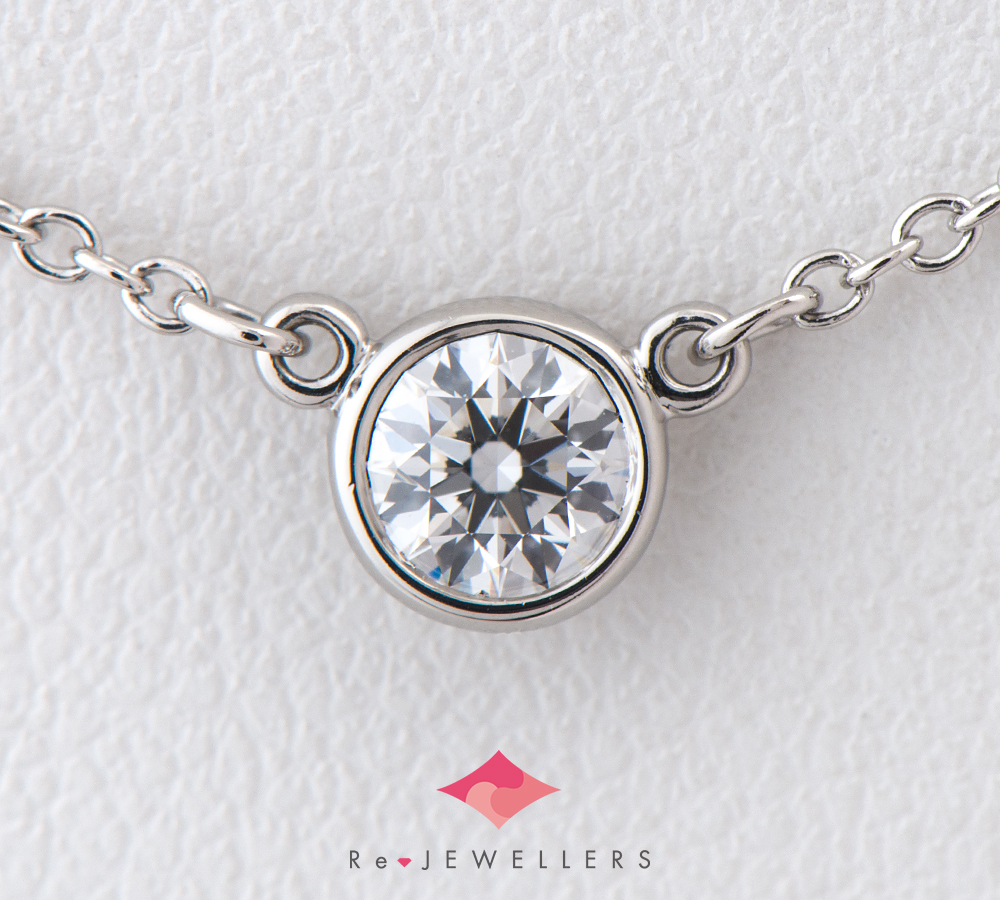 ティファニー バイザヤード ダイヤモンド プラチナ950 ペンダント・ネックレス【中古】(2200000283115)