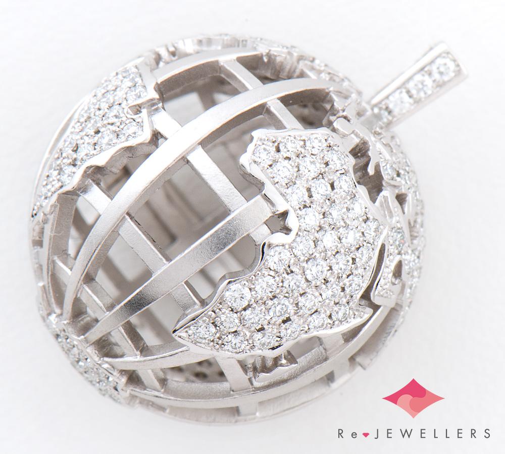 ラザール 100周年記念 ダイヤモンドアース ダイヤモンド計1.10ct プラチナ950 ペンダントトップ【中古】(2200000292254)