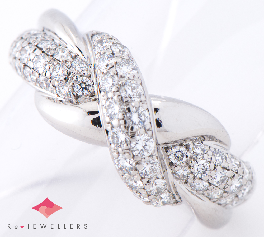 93c000e77e8d9 Royal Usher diamond 0.75ct platinum 900 13 ring in total, ring  (2200000293619)