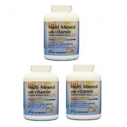 ≪送料無料!≫マルチミネラルビタミン3個セット【不足しがちなミネラル・ビタミンの摂取に】