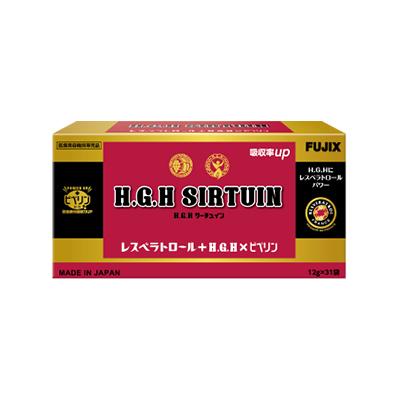 【マラソン中はエントリでP5倍】H.G.H SIRTUIN 1箱372g(12g×31袋) HGHサーチュイン レスベラトロール ピペリン配合 送料無料