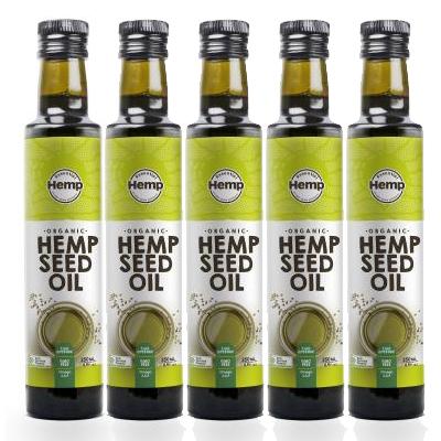 麻の実油250ml×5本セット ヘンプシードオイル 激安通販ショッピング オーストラリアの有機認定を受けた 麻の実油 セール 登場から人気沸騰