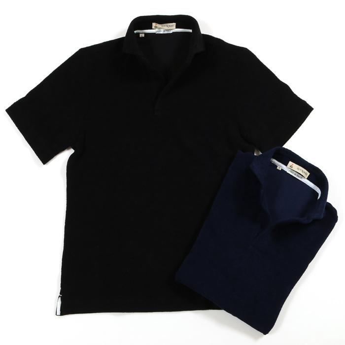 【スーパーSALE ポイント5倍!】GUY ROVER ギローバー コットン パイルスキッパーポロシャツ メンズ 19春夏 5/NAVY 6/BLACK PC221J 591501
