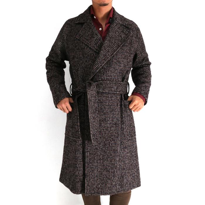 RAINMAKER レインメーカー WRAP COAT メンズ 18秋冬 HOUND TOOTH RM182-023