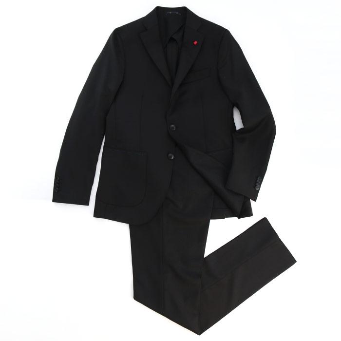 SARTORIA LATORRE サルトリア ラトーレダイヤ織り 2パッチポケット ウール2Bスーツ 99/BLACK(LA627011)【メンズ】